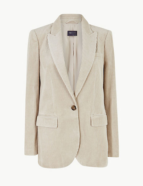 Pure Cotton Corduroy Blazer