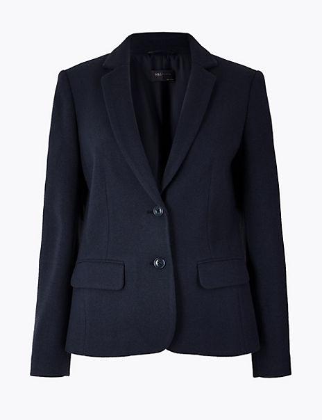 Flannel Jersey Blazer
