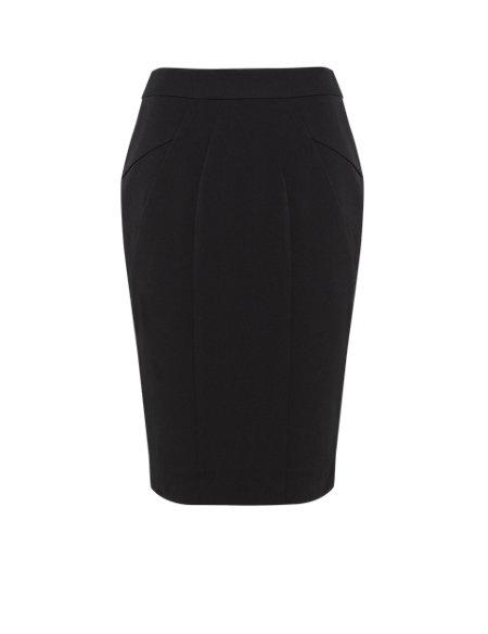 Angled Seam Knee Length Skirt