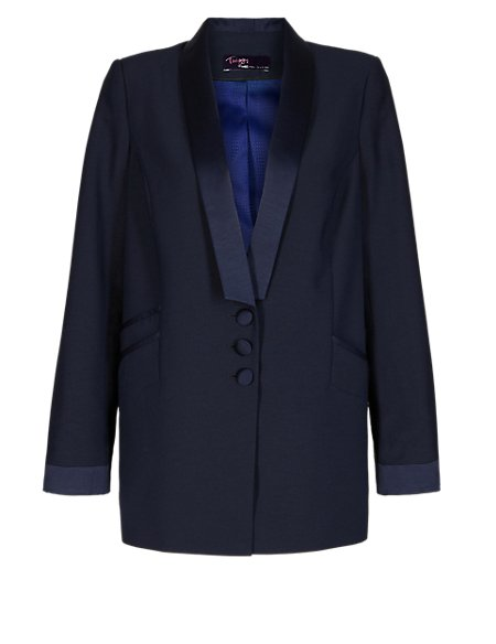Twiggy for M&S Collection Shawl Collar Tuxedo Jacket