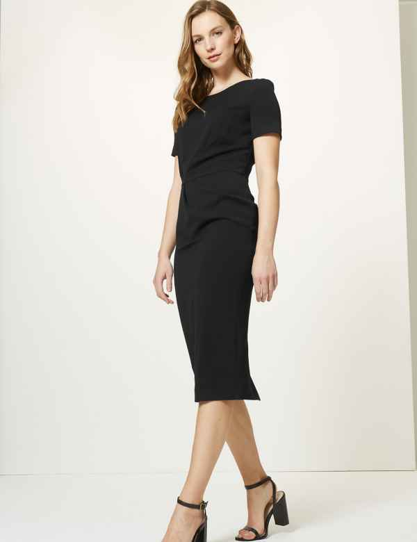 4580a226aea Short Sleeve Bodycon Midi Dress