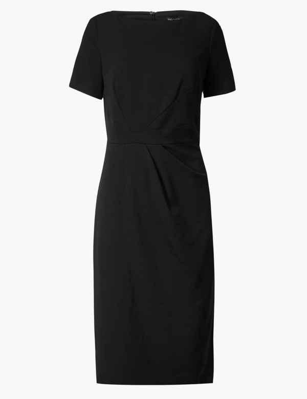 fcd1eb05b4d Short Sleeve Bodycon Midi Dress. M S Collection