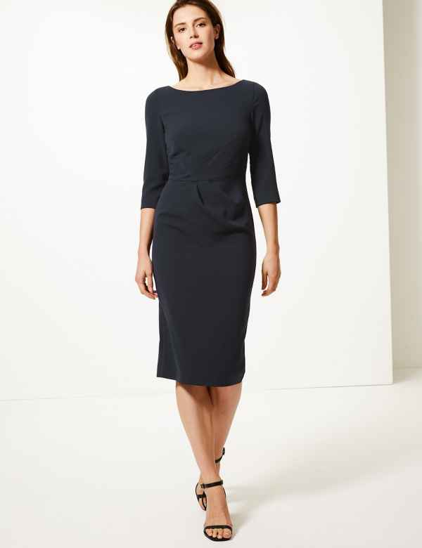 7f22b851d8 Seam Detail Bodycon Knee Length Dress
