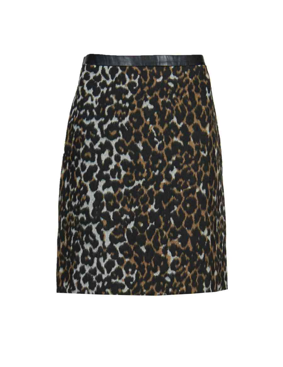 6a1c37dfca PETITE Brushed Animal Print A-Line Mini Skirt with New Wool
