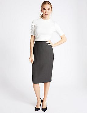 Pencil Midi Skirt