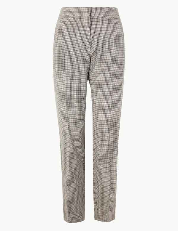 55c181200 Dogtooth Checked Suit Trousers