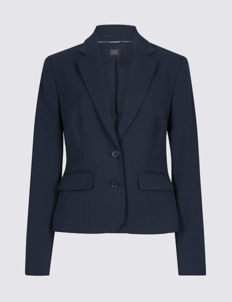 Tailored Button Cuff Blazer