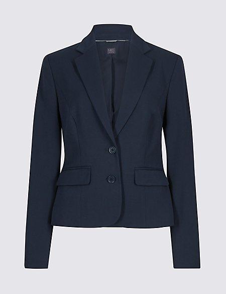 Tailored Button Cuff Blazer