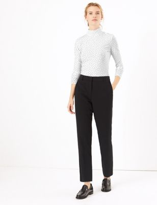 Mid Rise Slim Leg Ankle Grazer Trousers