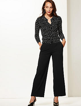 Wide Leg Ankle Grazer Trousers