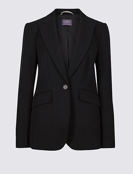 Tailored Stitch Detail Blazer