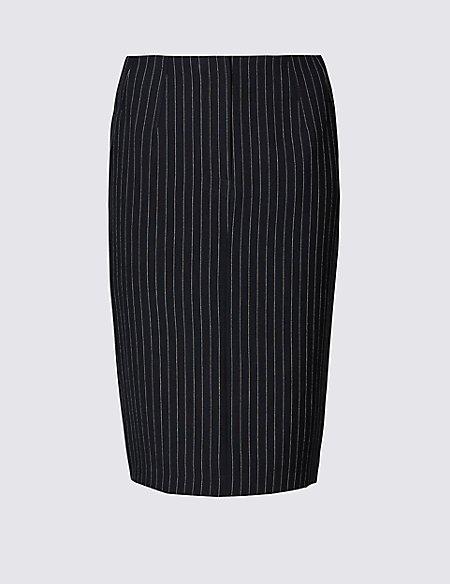 Striped Pencil Mini Skirt