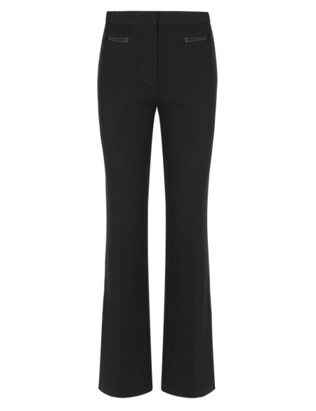 Flat Front Bootleg Trousers