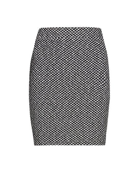 PETITE Textured Mini Skirt