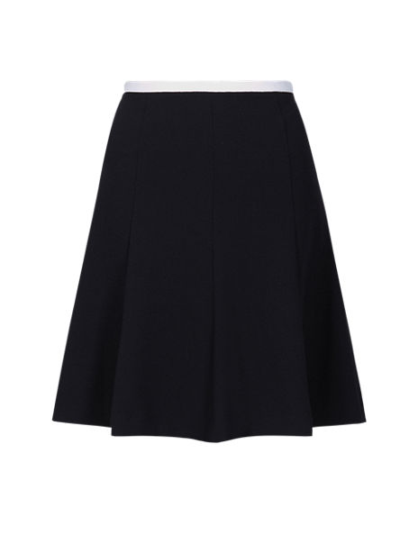 Crêpe Trim Mini Skirt
