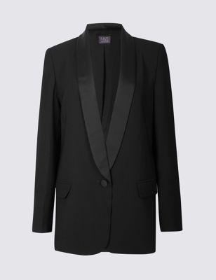 1 button tuxedo blazer mamps collection mamps