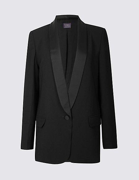 1 Button Tuxedo Blazer