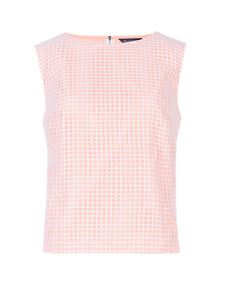 Grid Checked Sleeveless Top
