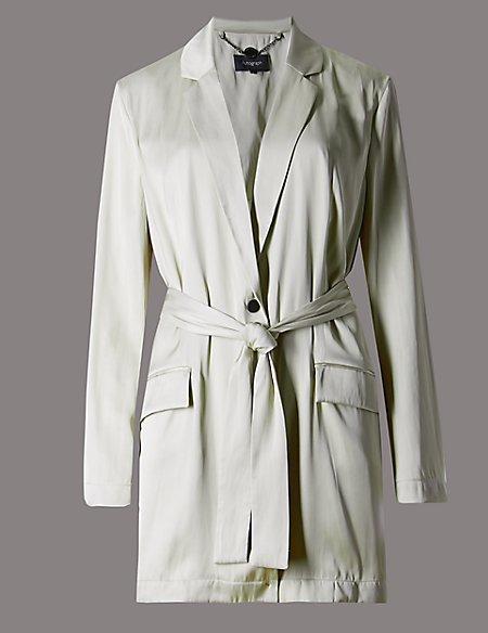 Unstructured Belted Jacket