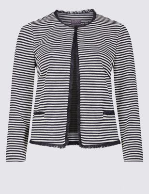 Jersey Striped Blazer by Marks & Spencer