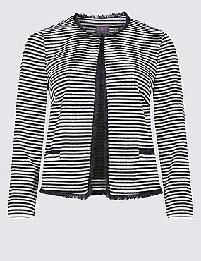 Jersey Striped Blazer