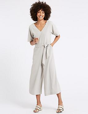 Kimono Half Sleeve Cropped Jumpsuit