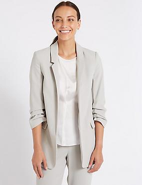 Crepe 3/4 Sleeve Blazer
