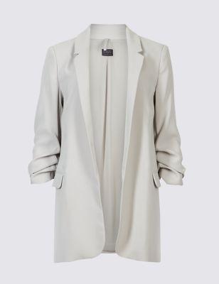 Crepe 3/4 Sleeve Blazer by Marks & Spencer