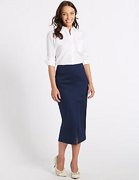 Cotton Rich Pencil Skirt