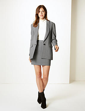 Checked A-Line Mini Skirt