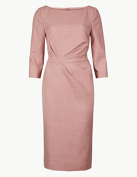 3/4 Sleeve Bodycon Midi Dress