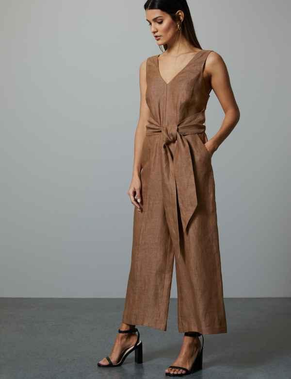 fa5729ae9c Pure Linen Jumpsuit