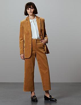 Cotton Rich Textured Corduroy Trousers