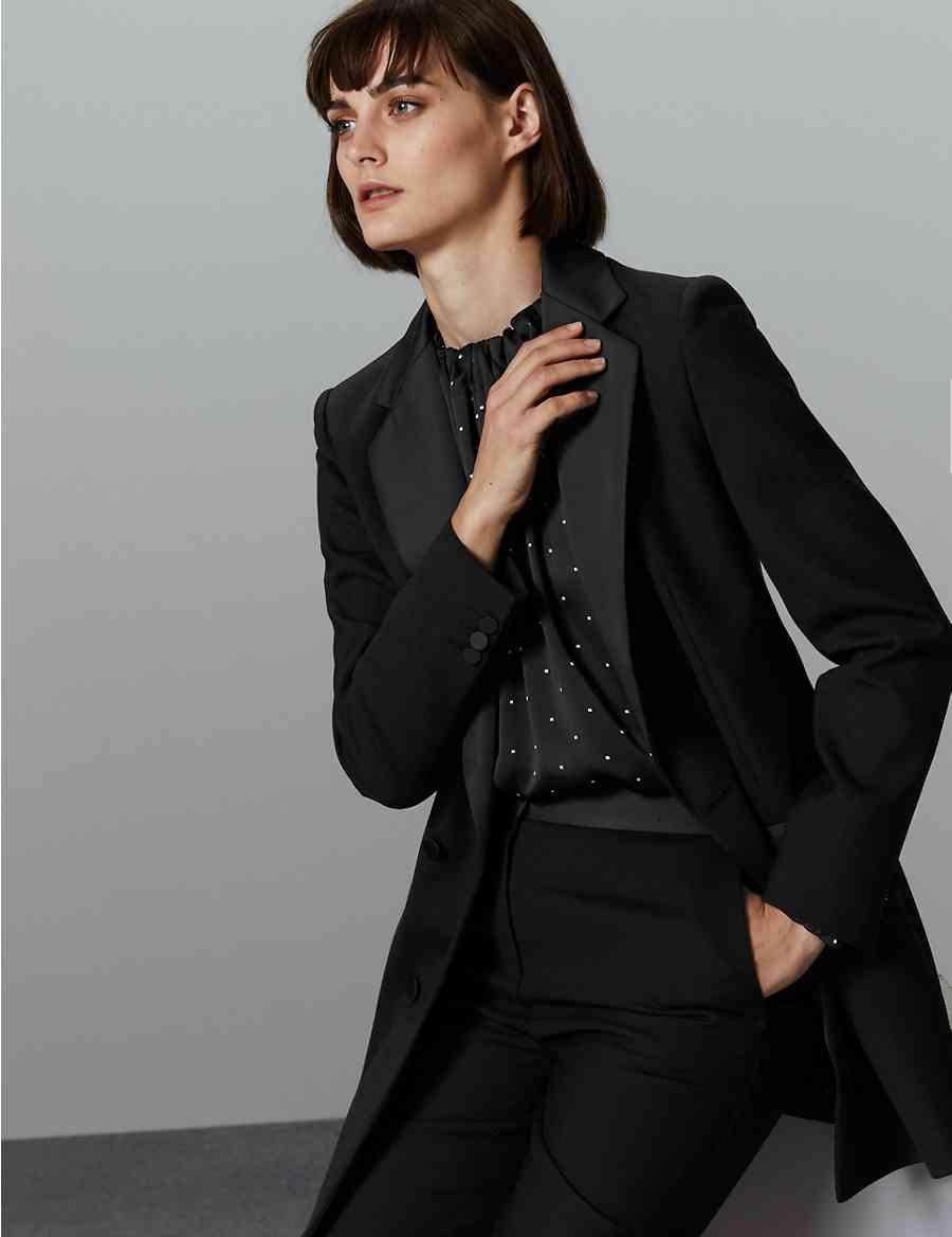 f9f4790fba7 Tuxedo Style Longline Blazer