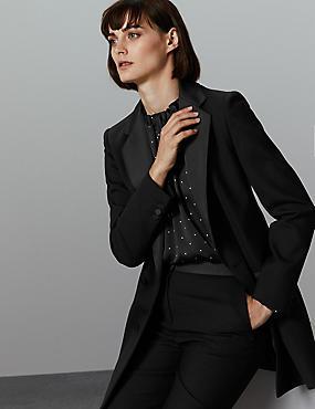 Tuxedo Style Longline Blazer