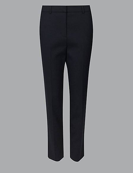 Slim Leg Ankle Grazer Trousers with Wool