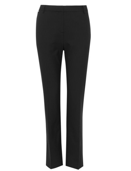 Straight Leg Trousers with Wool