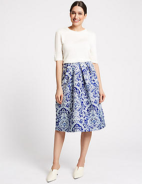 Per Una Jacquard Print Full Midi Skirt - - 8 High Quality Cheap Price Best Seller For Sale Limit Discount Footaction Cheap Price 4SHWvK4hW