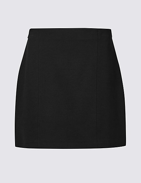 PETITE Jersey A-Line Mini Skirt
