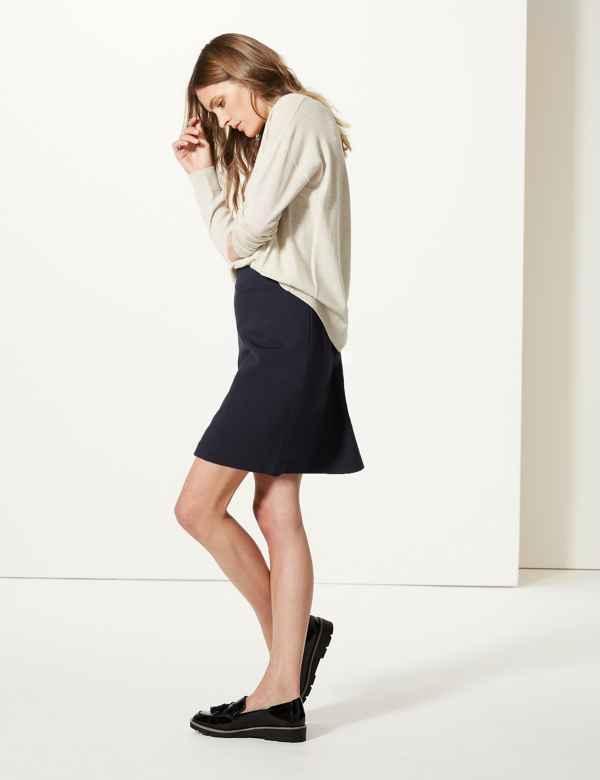 Jersey A-Line Mini Skirt 2e9d262cf