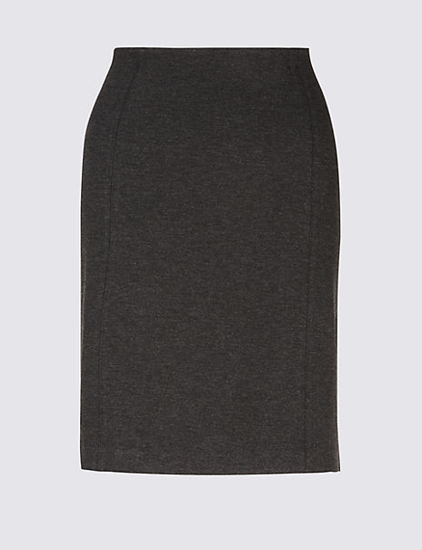 Jersey A-Line Mini Skirt