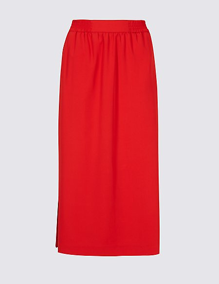 Marks & Spencer Split Side Column Midi Skirt - - 6 Many Styles Wide Range Of Sale Online Choice Cheap Price With Credit Card Buy Cheap Wide Range Of xU6m1Y