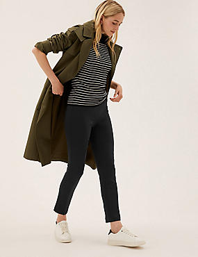 Jersey Slim Fit Ankle Grazer Trousers