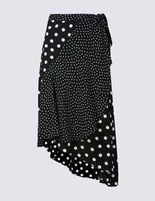 Spotty wrap skirt