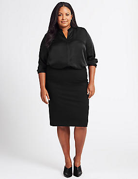CURVE Ponte Pencil Midi Skirt