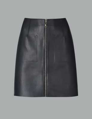 Leather Mini Skirt by Marks & Spencer
