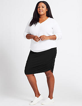 CURVE Gathered Pencil Skirt