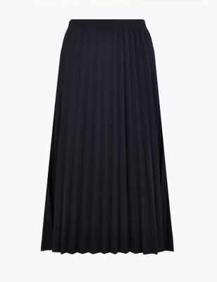 474fe4bc20dee5 Jersey Pleated A-Line Midi Skirt £25.00