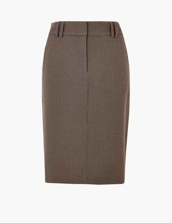 6f34e5fe3f Checked Pencil Midi Skirt. New