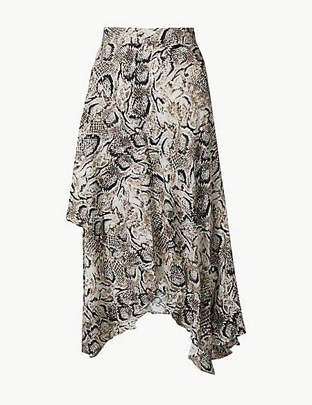 Animal Print Wrap Style Skirt